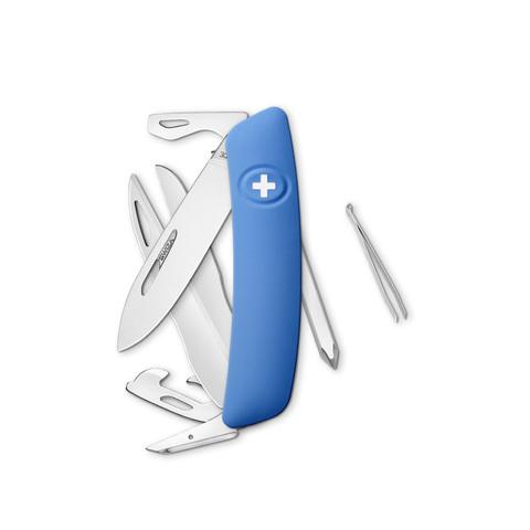 Швейцарский нож SWIZA D08 Standard, 95 мм, 12 функций, синий