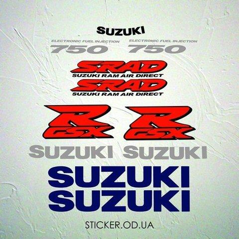 Набор наклеек Suzuki gsx-r 750 1998 srad