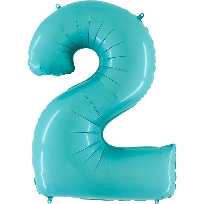 Голубая цифра 2