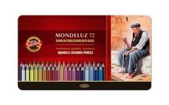 Набор художественных акварельных карандашей MONDELUZ OLD MAN 72 цвета в металлической коробке