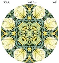 Эскиз для росписи, Круг диаметр-47,5см, SMAR-st-58