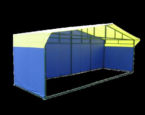 Торговая палатка Митек Домик 6х2 из квадратной трубы ⊡40х20 мм