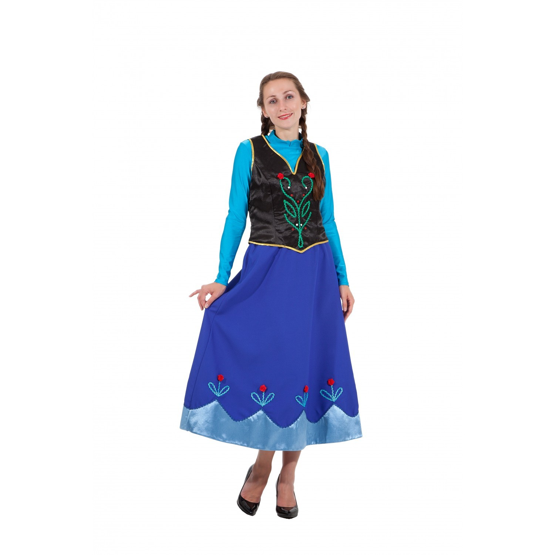 Карнавальный костюм Анны - взрослый (Холодное сердце)