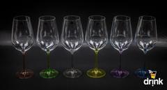Набор из 6 цветных бокалов для вина Gastro Арлекино, 350 мл, фото 3