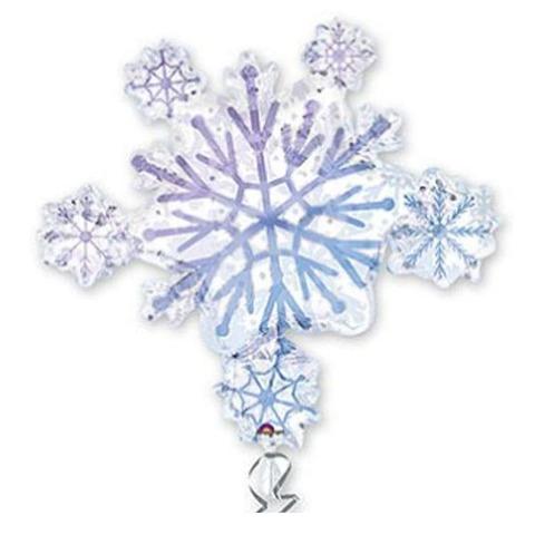 Фольгированный шар Снежинка
