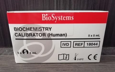 18044 Сыворотка Калибратор 5х5мл /БиоСистемс С.А., Испания/BioSystems S.A.,Spain