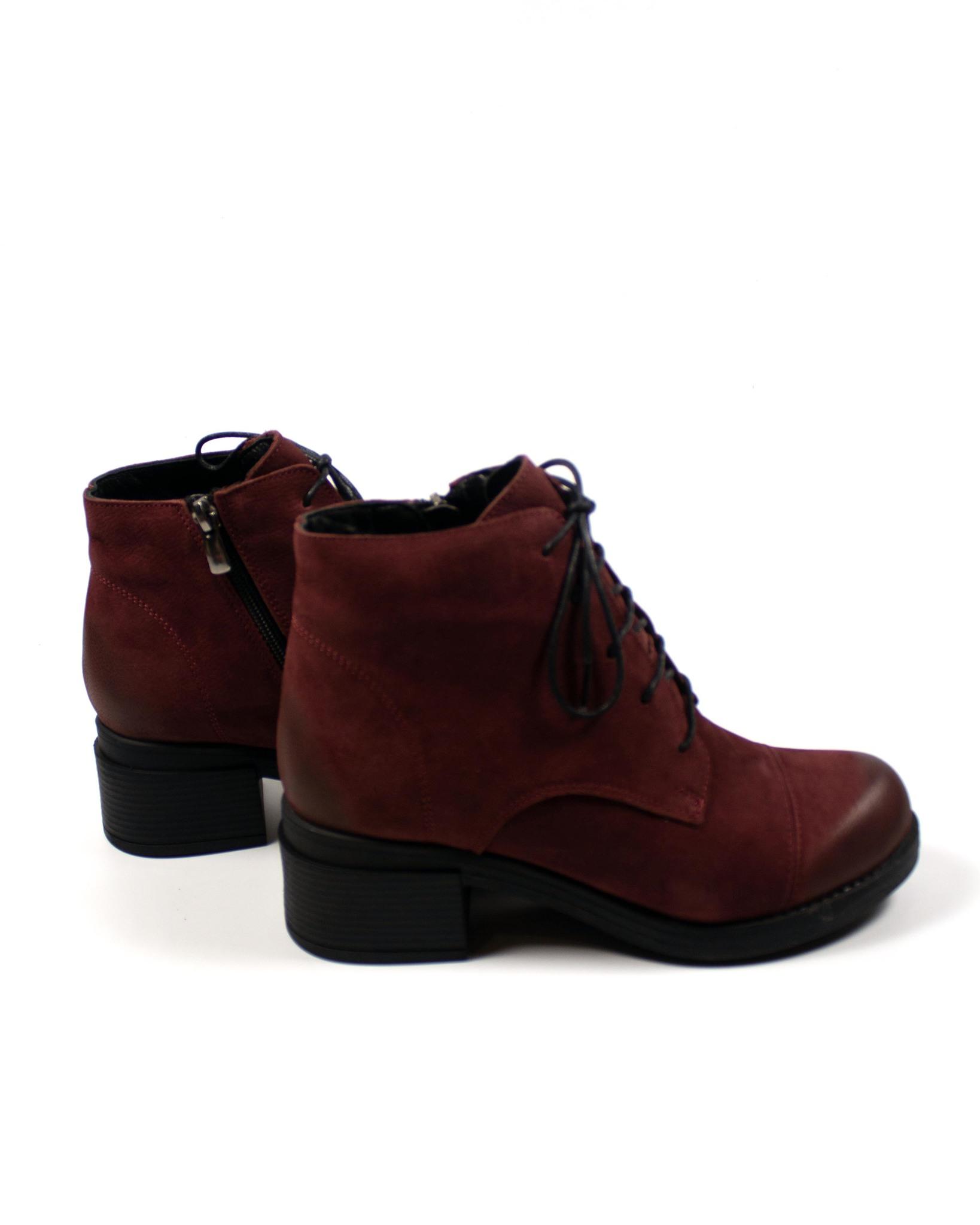 бордовые ботинки Mario Muzi