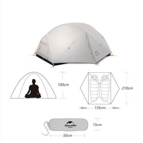 Палатка туристическая Naturehike Mongar 2 20D
