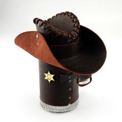 Сувенирная кружка Шериф, черная, фото 4