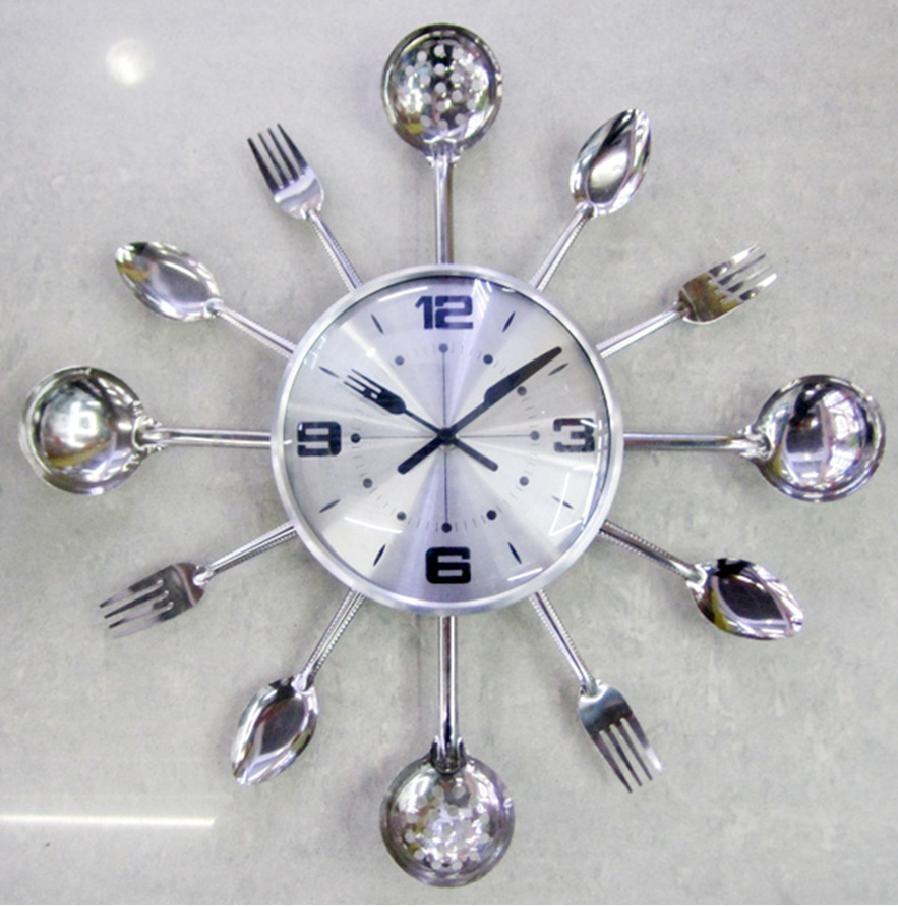 Часы ложки-вилки серебряные