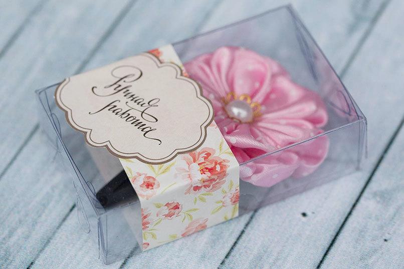 Этиклейка на упаковку для мыла Пионы