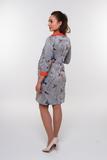 Платье для беременных и кормящих 09917 оранжевый