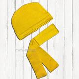 Шапочка и шарф для кота Басика (желтый)