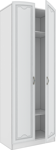 Шкаф двухстворчатый Melania 02 Арника рамух белый