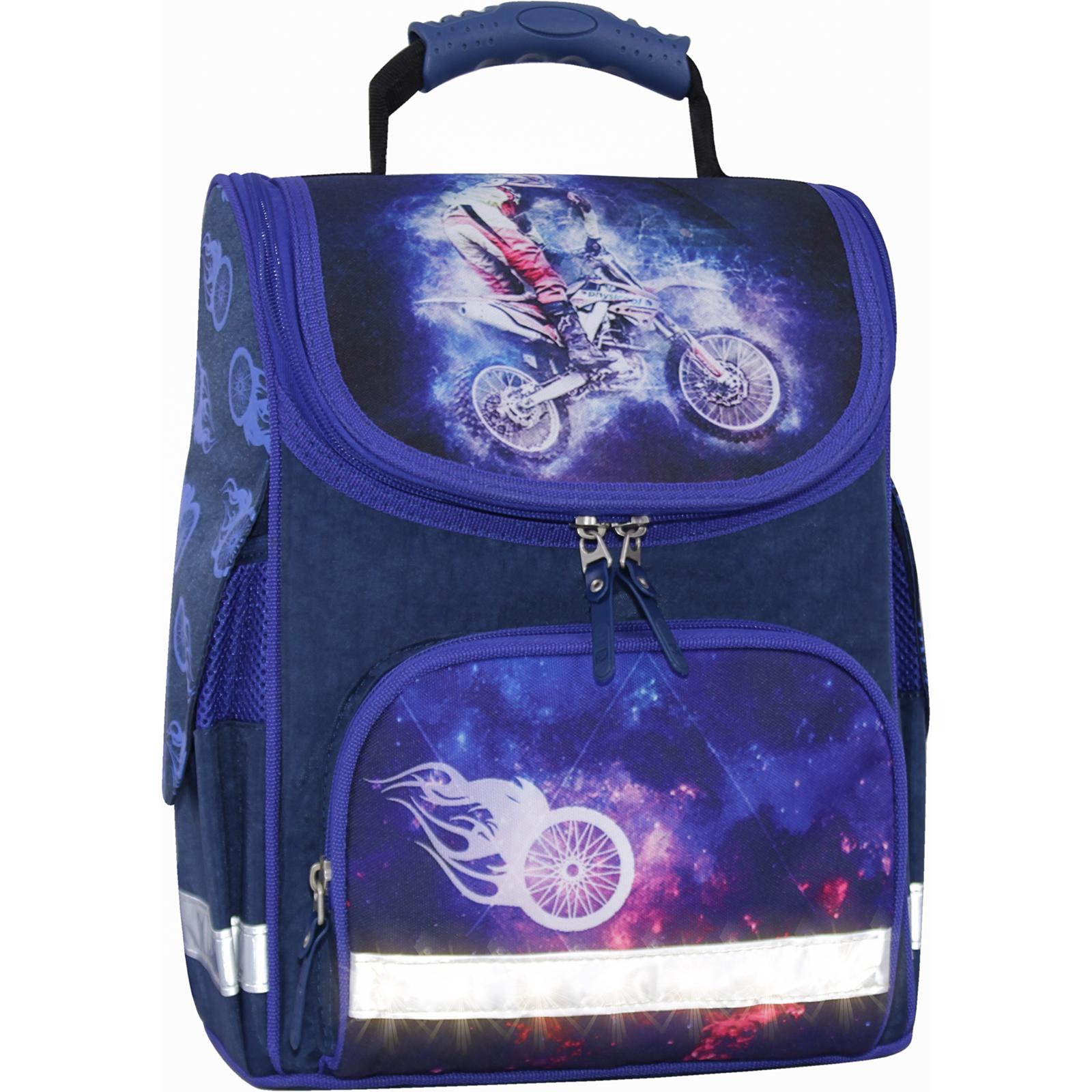 Школьные рюкзаки Рюкзак школьный каркасный с фонариками Bagland Успех 12 л. синий 507 (00551703) IMG_3725свет.суб507-1600.jpg