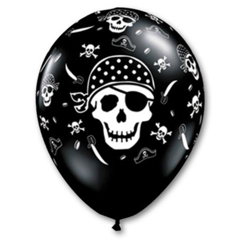 Воздушные шары пиратский череп
