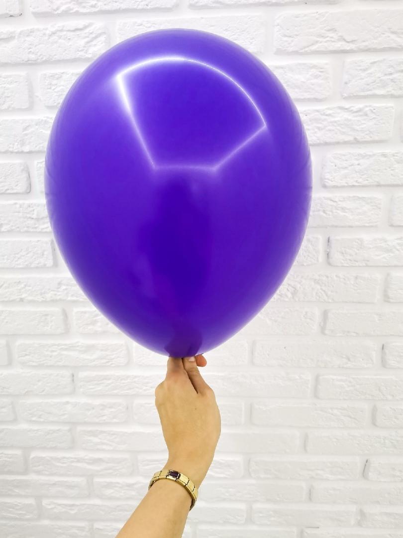 №23 Фиолетовый Гелиевый шар пастель 30см с обработкой