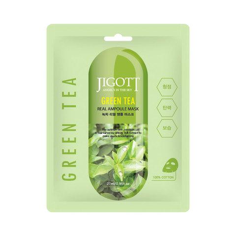 Ампульная маска с экстрактом зеленого чая Jigott
