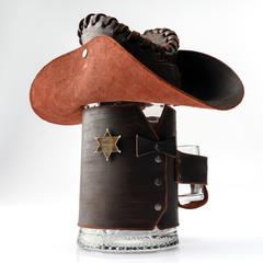 Сувенирная кружка Шериф, черная, фото 1