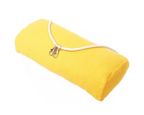 Подушка для гамака из льна желтая