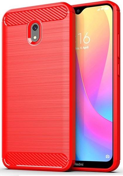 Чехол Xiaomi Redmi 8A цвет Red (красный), серия Carbon, Caseport