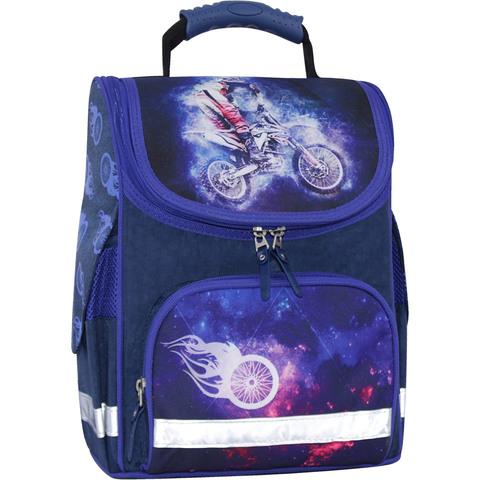 Рюкзак школьный каркасный с фонариками Bagland Успех 12 л. синий 507 (00551703)
