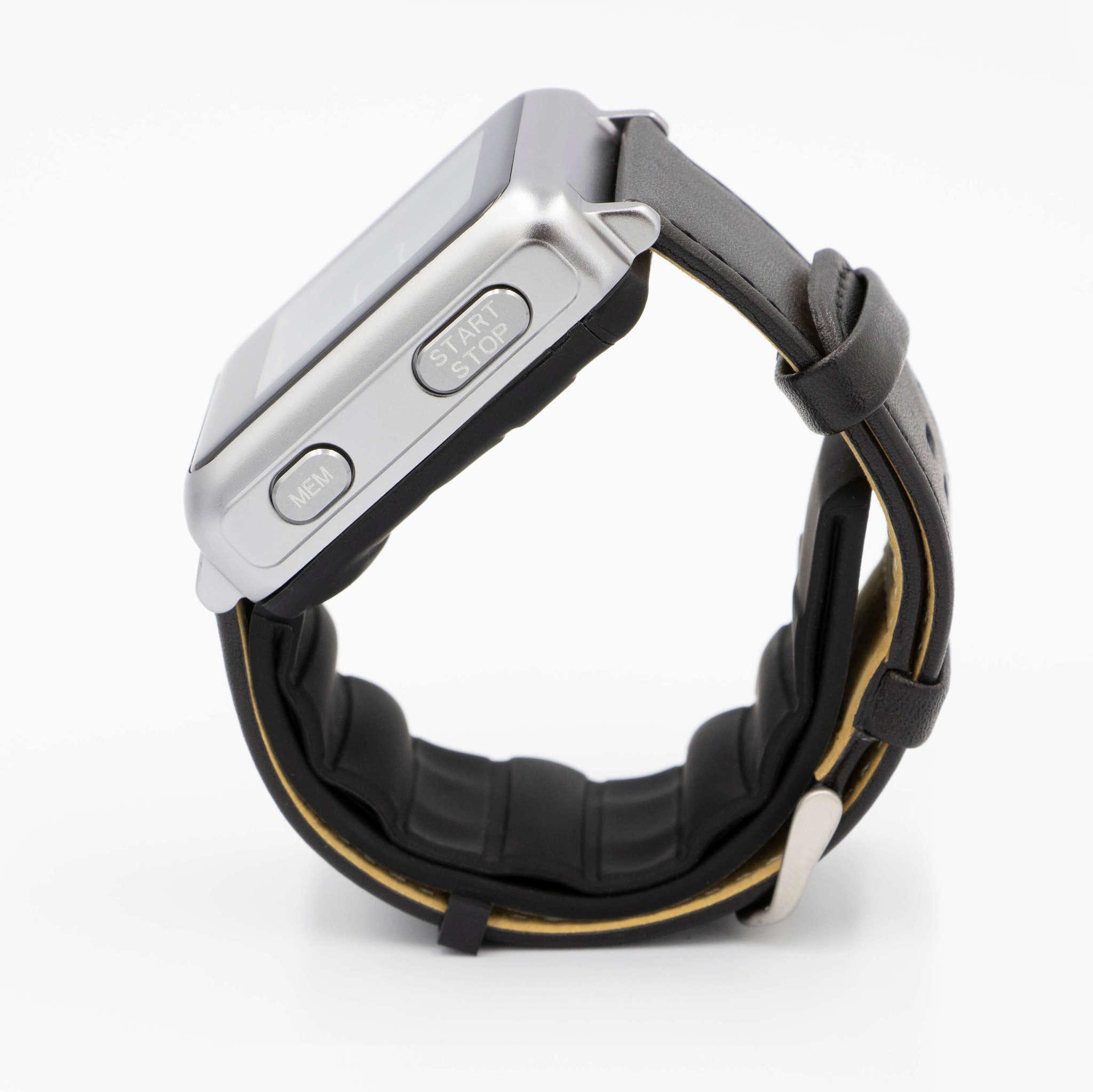 Профессиональные манжетные часы для автоматического измерения давления и пульса осциллометрическим методом Biomer Pro W1 (серо-черный)
