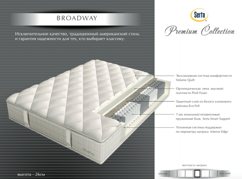 Матрас Serta Broadway (Premium Collection)
