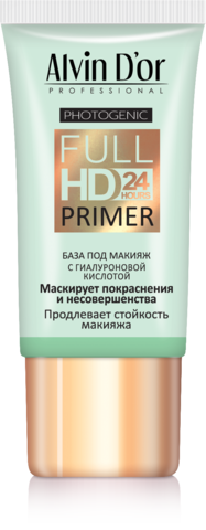 Alvin D`or  SP-03 База под макияж Full Hd primer 24hours (зелёная) 25мл