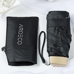 Тонкий, плоский и легкий зонт с защитой от УФ излучения, 6 спиц (черный)