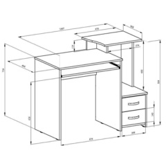 Стол компьютерный КС-10