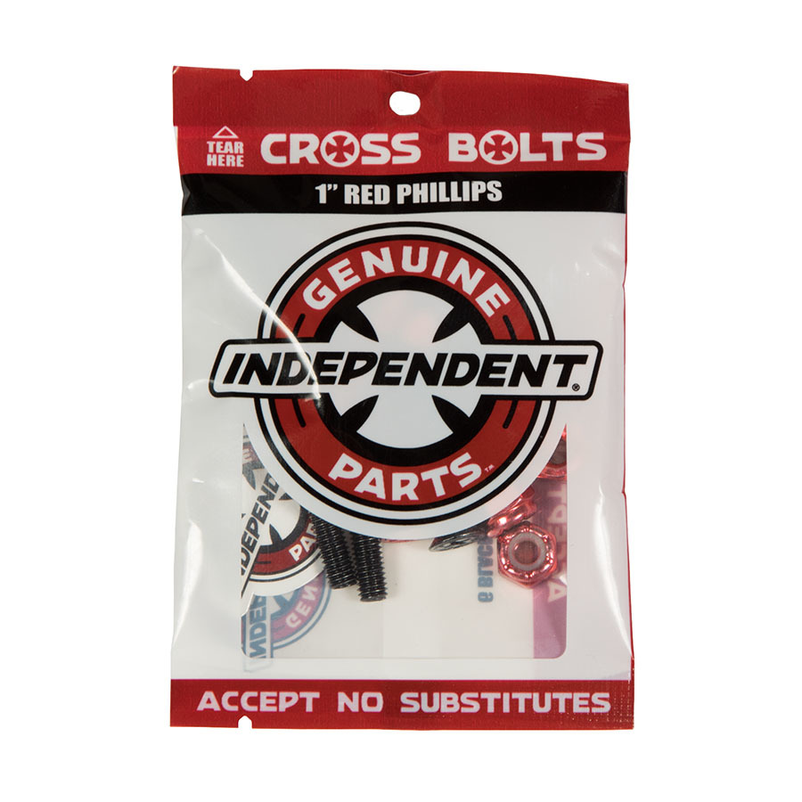 Болты для скейтборда INDEPENDENT Phillips Hardware (Black/Red)