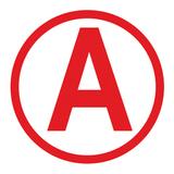 Наклейка с буквой «А» на аварийный светильник