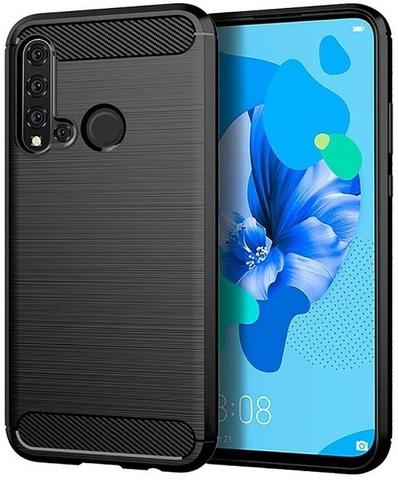 Чехол для Huawei P20 Lite 2019 (Nova 5i) цвет Black (черный), серия Carbon от Caseport