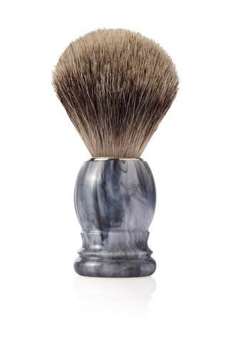 Помазок для бритья Mondial, пластик, ворс барсука, рукоять - цвет серый