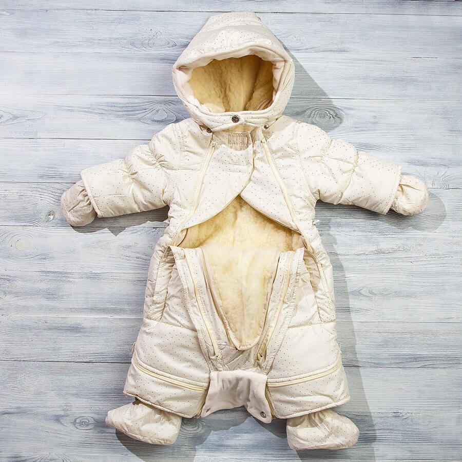 Зимний комбинезон-трансформер для новорожденных
