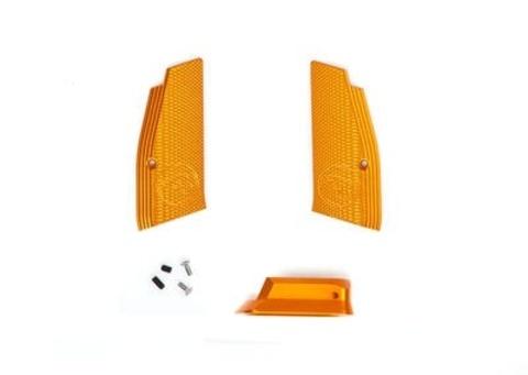 Накладки на рукоятку и пятка магазина для CZ SP-01 SHADOW желтые (артикул 18548)