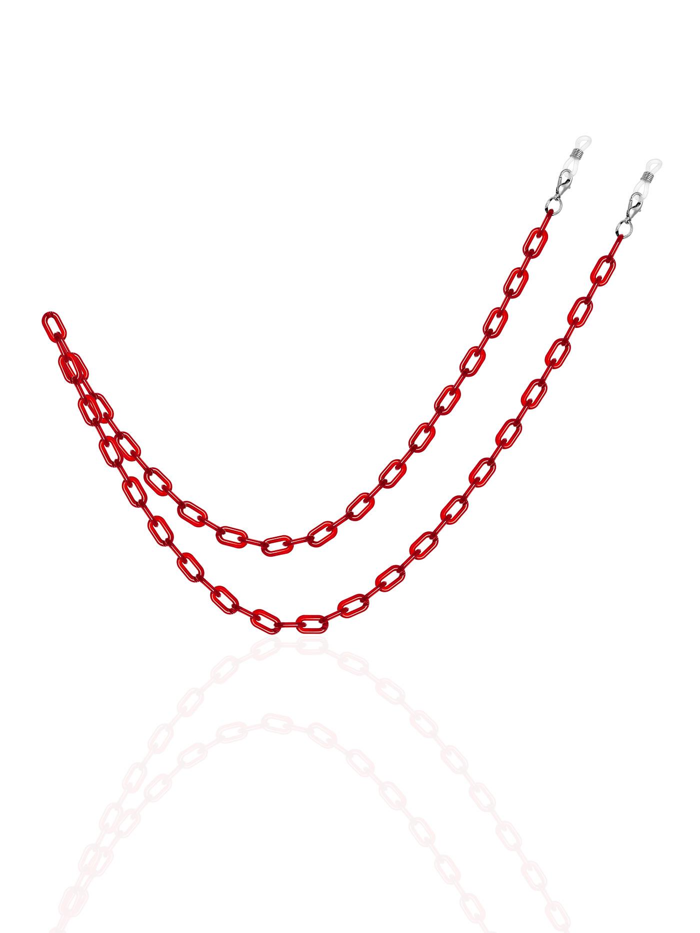 Красная цепочка для очков, стильные подарки