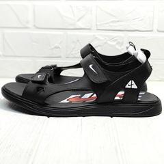 Мужские сандалии босоножки кожа Nike 40-3 Leather Black.