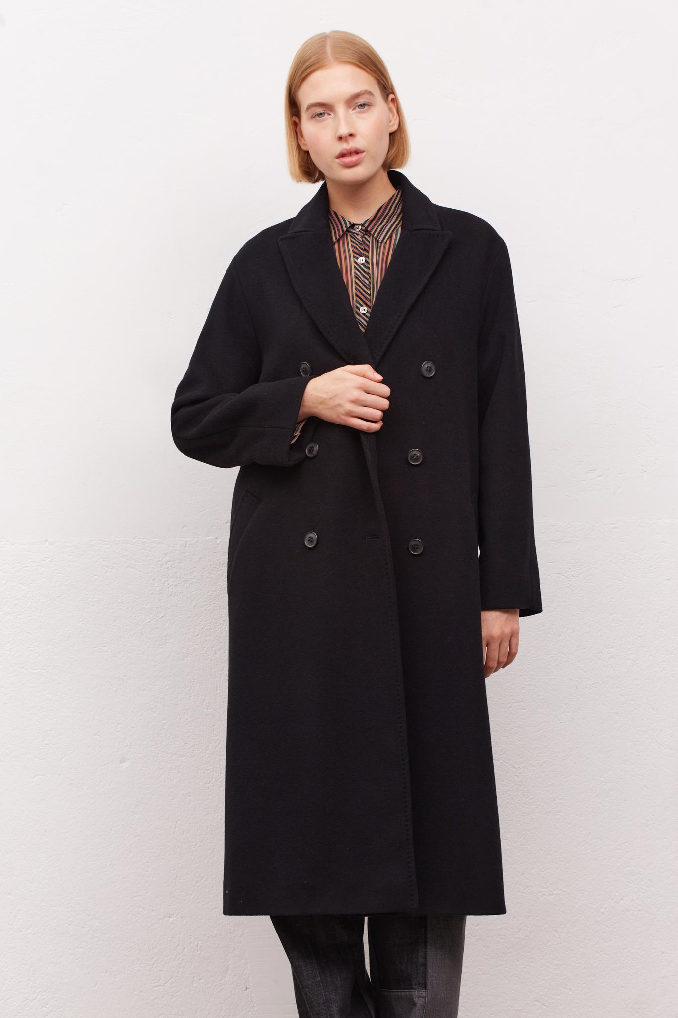 SUZY - Двубортное пальто из шерсти и кашемира