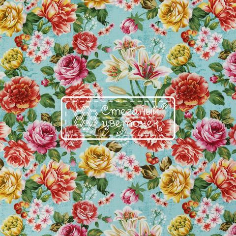Ткань для пэчворка, хлопок 100% (арт. JO0802)