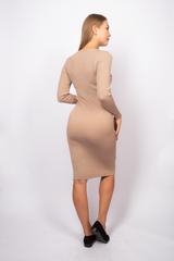 Платье из полиэстера до колена недорого
