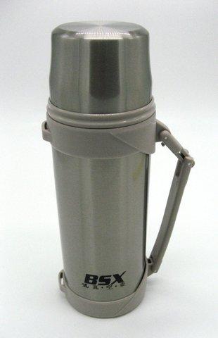 Термос Indiana BSX пробка с кнопкой 1,2 л (стальной)