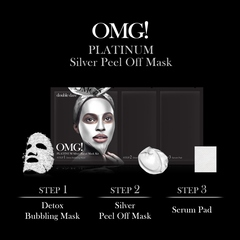 double dare OMG! Platinum Silver Facial Mask Kit трёхкомпонентная маска с эффектом лифтинга