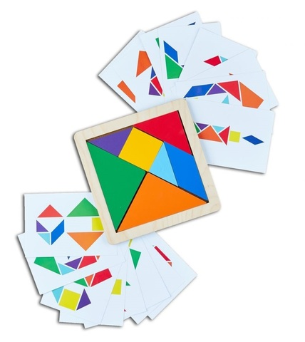 Головоломка Танграм с карточками RadugaKids (Радуга Кидс) арт. RK1151