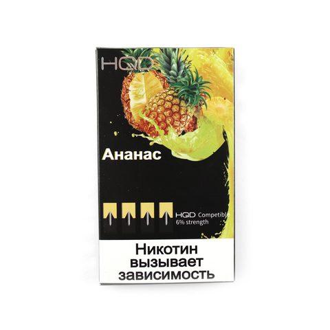 Сменный Картридж HQD совместимый с JUUL - Ананас х4, 60 мг