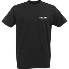 Футболка с однотонным принтом DAF (Даф) черная 004