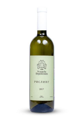 Вино Рислинг полусухое белое ТЗ  Усадьба Перовских 0,75л.