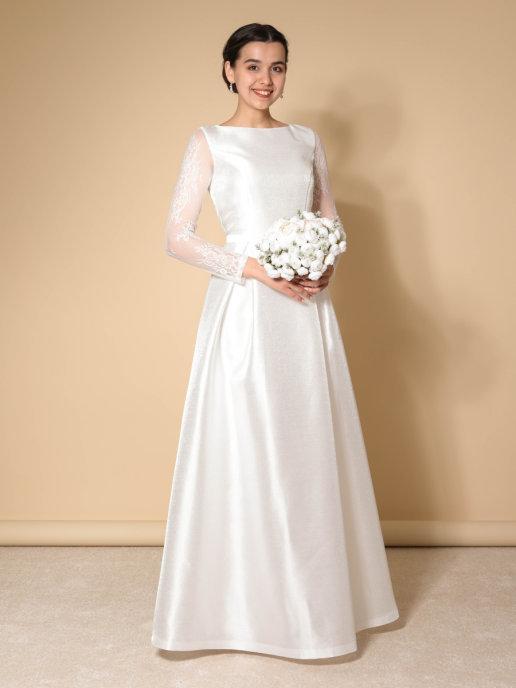 Свадебное платье Классика Блис (молочный)