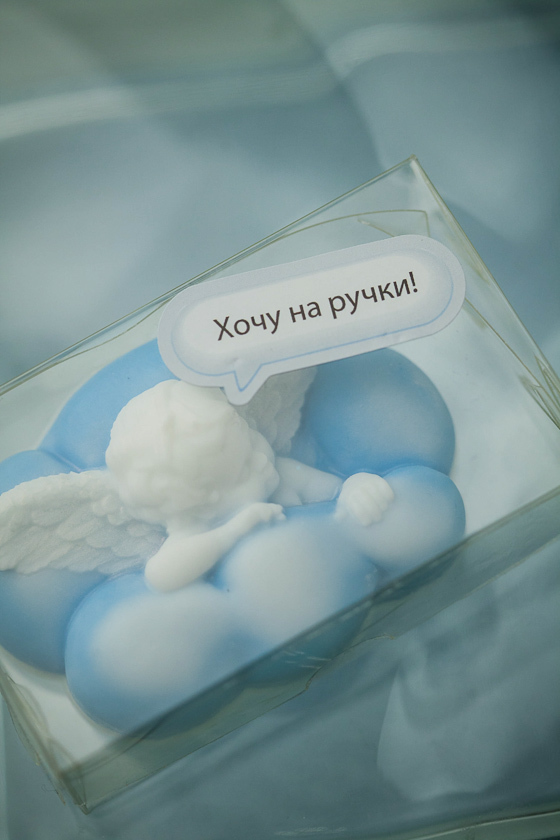 Наклейка на коробку Говорящее мыло